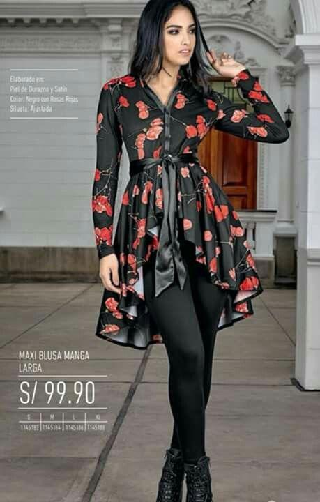 d0d354354 Pin de Wendy Guerrero en Blusas en 2019   Ropa de moda, Blusas de ...