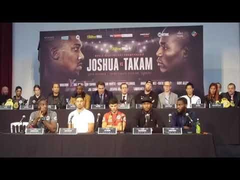 ANTHONY JOSHUA VS. CARLOS TAKAM UNDERCARD PRESS CONFERENCE