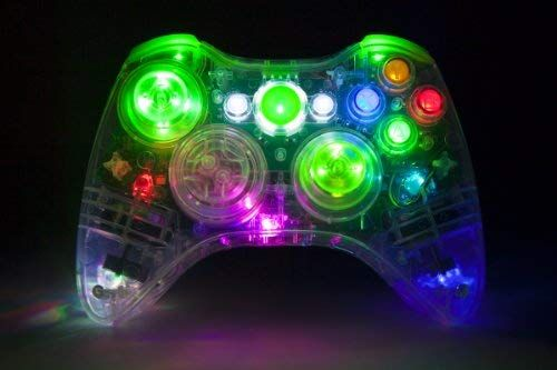 Amazon com: Color-Changing LED Xbox 360 Modded Controller