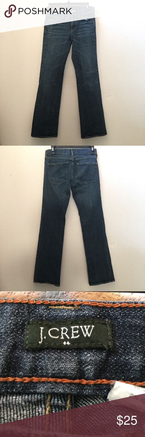 J Crew Jeans size 27 Gently used women's J. Crew jeans in size 27 hipslung. Medium to dark wash, bootcut/ straight leg. J Crew Jeans Straight Leg