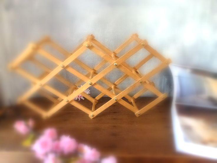 wooden wine storage by Sweetlakevintage on Etsy
