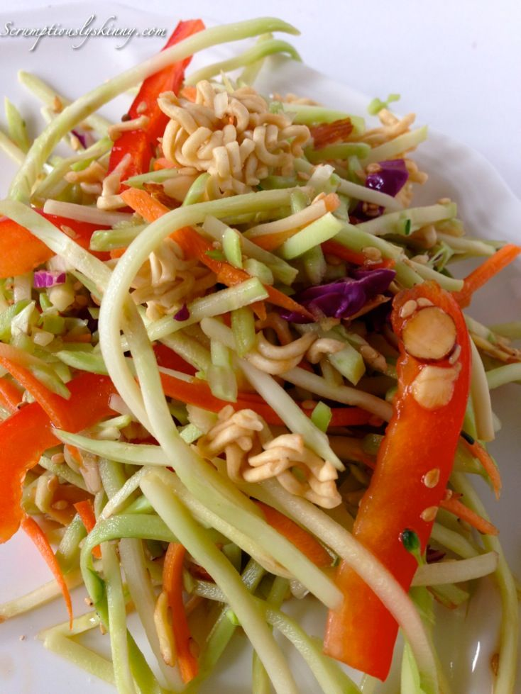 Asian-Inspired Coleslaw - A colorful broccoli-based coleslaw with red ...