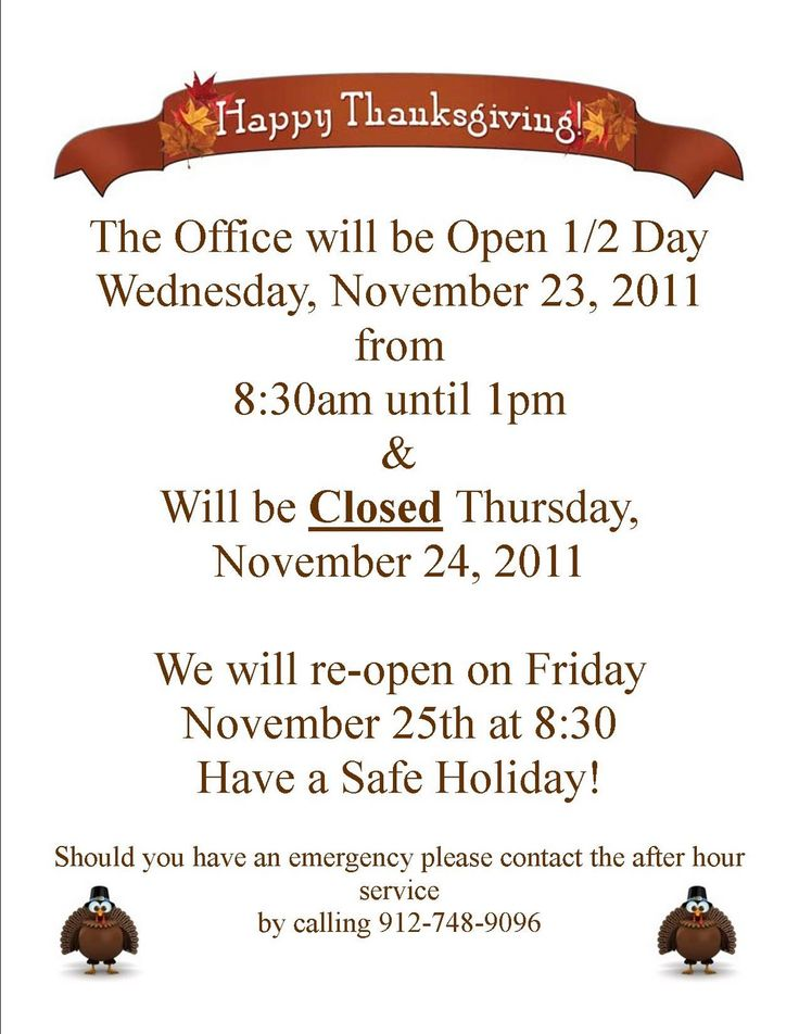 photo about Thanksgiving Closed Sign Printable known as Cost-free Printable Holiday vacation Shut Signs or symptoms - Cost-free Down load