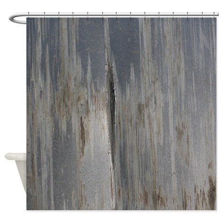 Gray Distressed Metal Industrial Shower Curtain by ShaNickersWallDecals on Etsy https://www.etsy.com/listing/478005565/gray-distressed-metal-industrial-shower