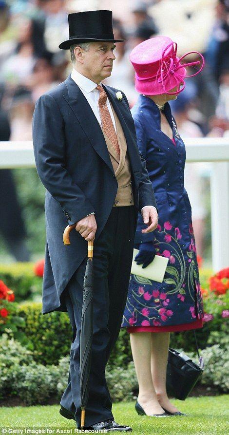 Prince Andrew and the Princess Royal wander through the Royal Enclosure 19 June 2014