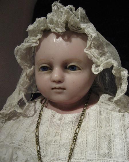 antique wax doll / antike Wachspuppe  *1880  Montanari  70cm  Sammlung: Lommel