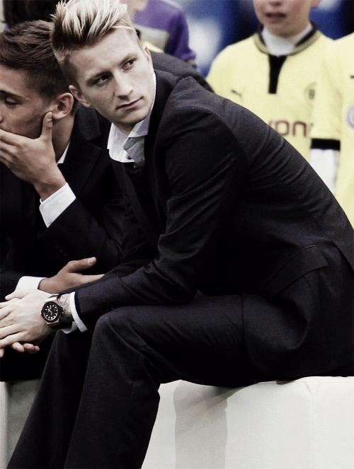"""Hi my name is Marco Reus and i'm secretly a model for GQ"""