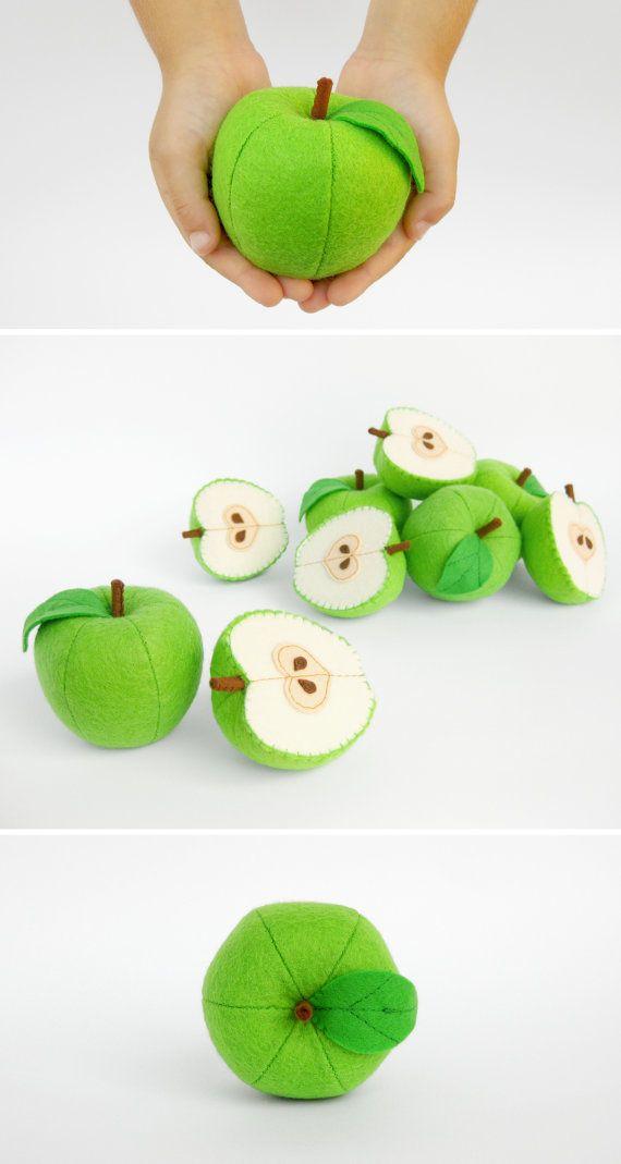 Jouets de bébé pomme entière et demi jouets biologiques pour cadeau d'enfant en…