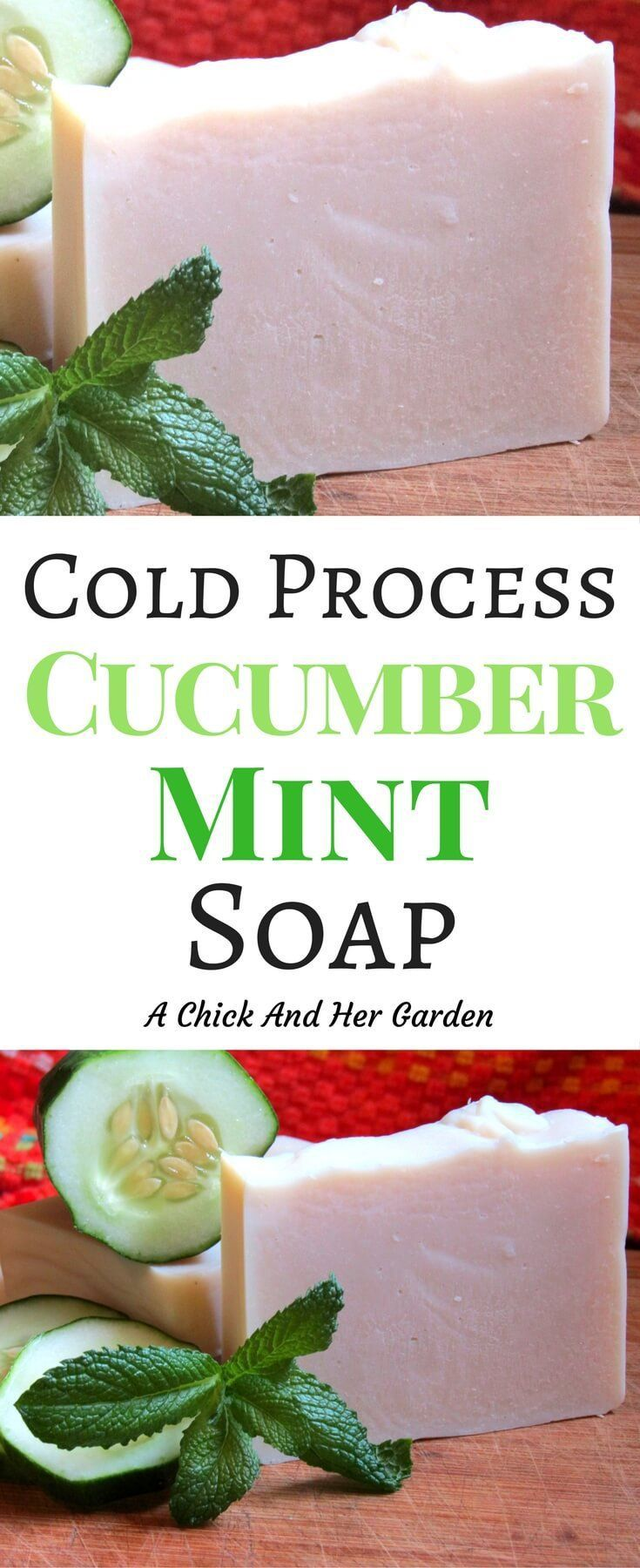 Cold process soap used to scare me! Until I tried my hand at it with this recipe! For a refreshing summer soap try cucumber mint soap! #homesteading #soaprecipes #naturalsoap #healthandbeauty