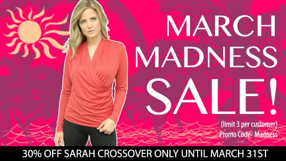 "Protecting your skin- is in! Take advantage of our March Madness Sale! - And don't forget to spread the word! XO http://bit.ly/1wIsiCr  Sarah is the hottest new piece from UV Couture- flattering to all those beautiful bellies.  Available in Black, Grey, & Red - It feels incredibly soft & luxurious on the skin ensuring you feel sexy and elegant every time you wear it.  Promo ""MADNESS"" only available while supplies last. (Limit 3 per customer)"