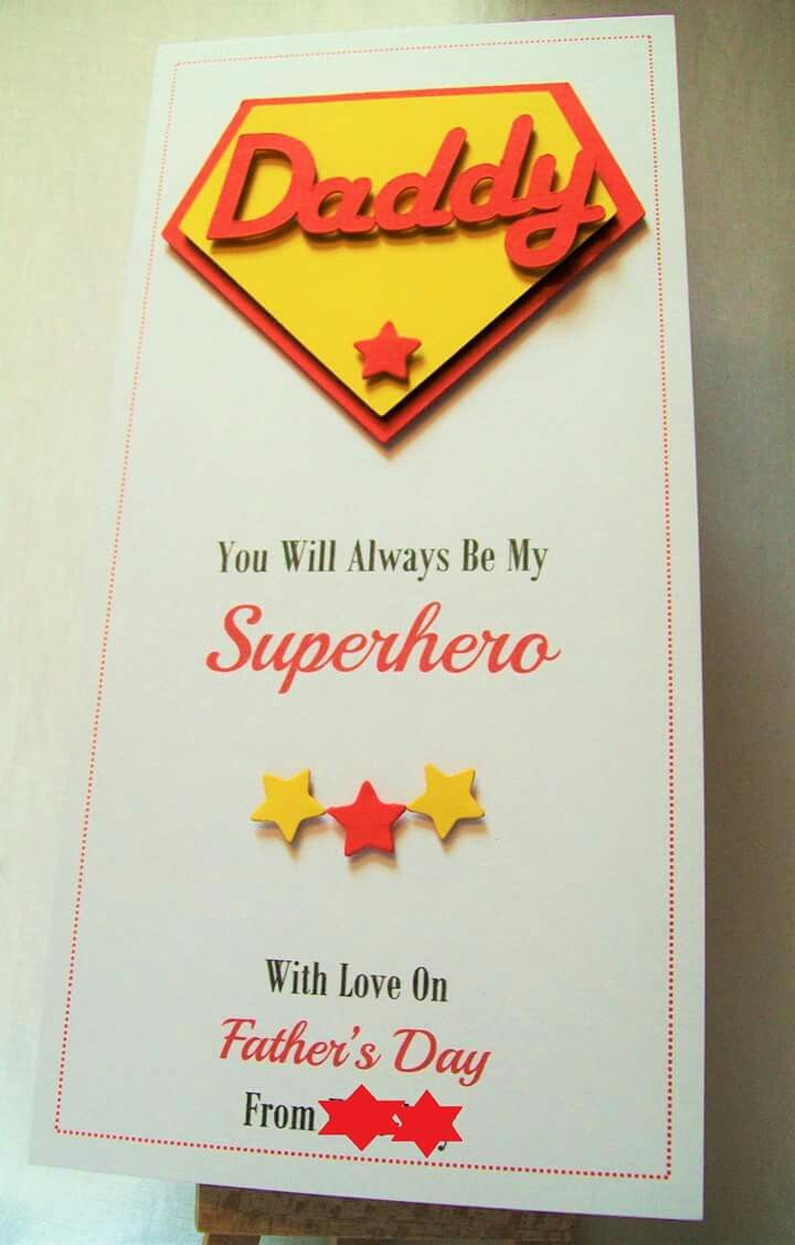 handmade father's day card can be personalised with any