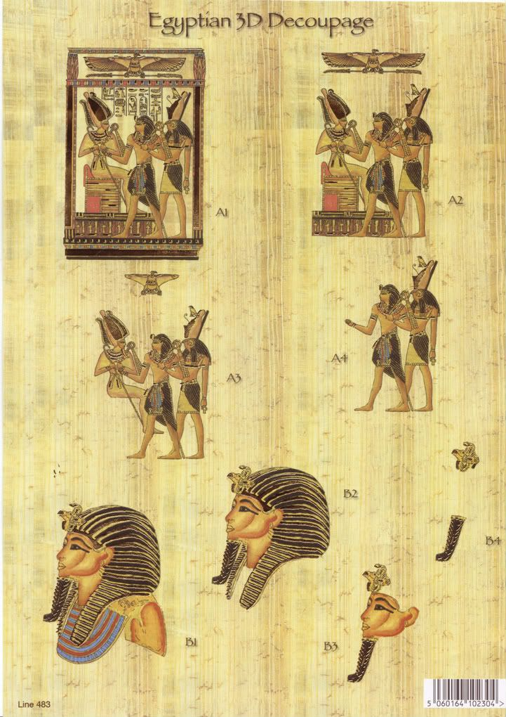 DECOUPAGE EGYPTE