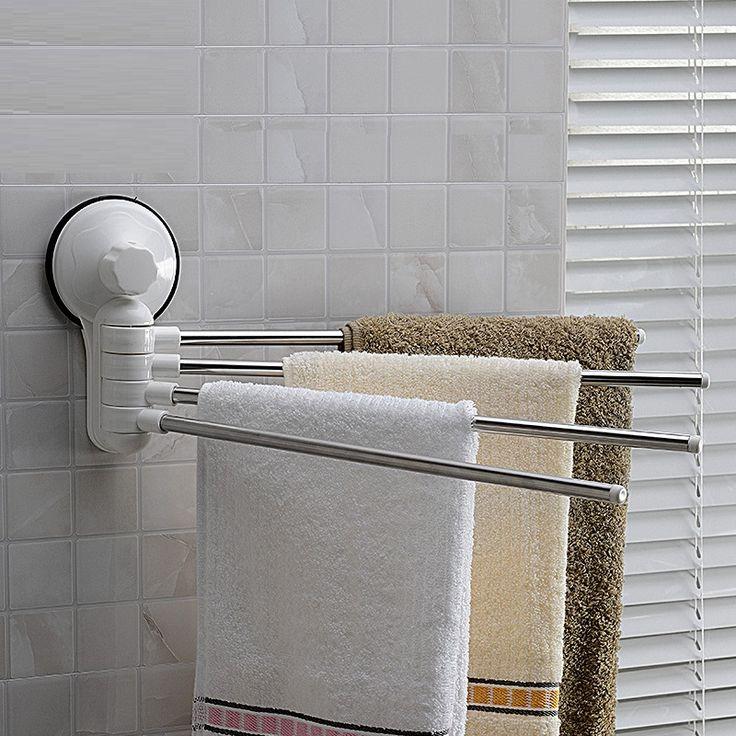 40 CM Breedte Handdoek Bars Rvs Staaf Handdoekenrek Roterende Badkamer Sucker Adhesive Handdoek Opknoping SQ 1987 in handdoek Bars van handdoek bars op AliExpress.com | Alibaba Groep