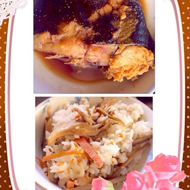 子持ちカレイで食べ応え十分。 舞茸ごはんも、美味しいよ❗️(*^_^*) - 38件のもぐもぐ - カレイの煮付けと舞茸ごはん by SUZUKI