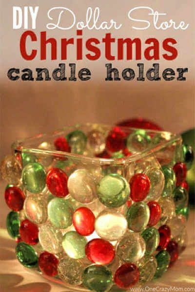 DIY Dollar Store Christmas Candle Holder – Dollar Store Craft Idea