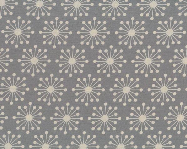 Viskose-Jersey STIGMA mit Sternenblumen, grau-wollweiß