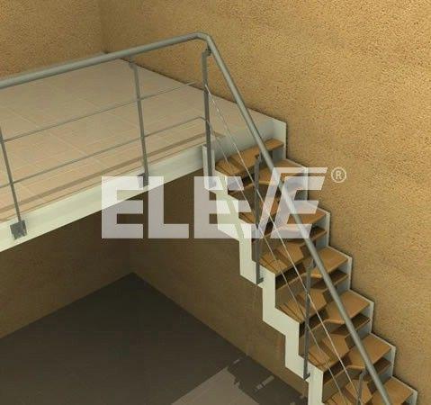 Escalera para entrepisos modelo de pasos alternados for Escalera de madera para entrepiso
