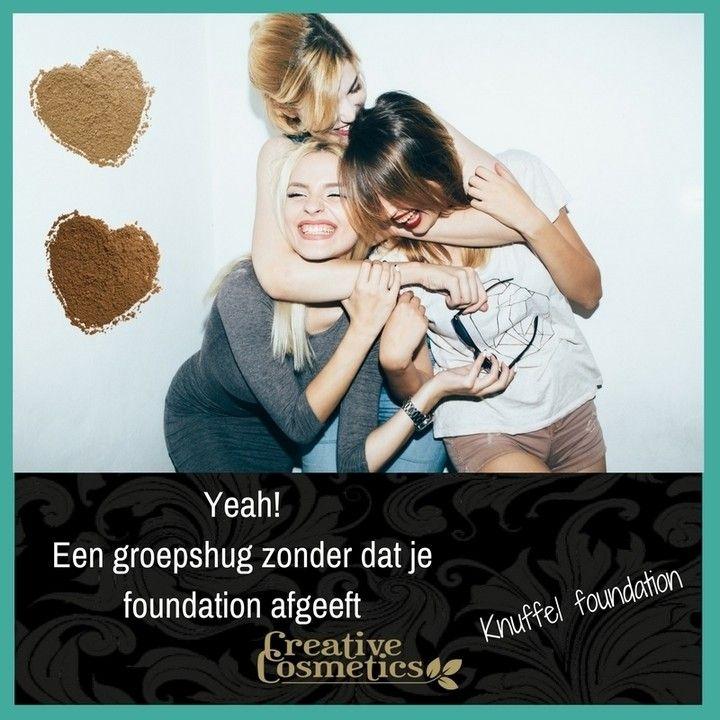 Te gek! We kunnen gewoon een groepshug doen, zonder dat onze foundation afgeeft. Kicken hè?  Neem een kijkje bij onze foundations: https://www.creativecosmetics.nl/huid/foundation/  Heb je een donkere huid? Geen probleem:https://www.creativecosmetics.nl/h…/foundation-donkere-huid/  #beauty # beautyful #beautytips #greenbeauty #naturalbeauty #beautyofnature #naturesbeauty #veganbeauty #beautymakeup #makeup #crueltyfree #purebeauty #beautys #foundation #lipstick #concealer #blush #bronzer…