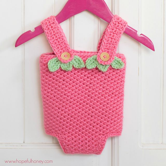 Craft Passions: Strawberry Shortcake Baby Playsuit..# free #crochet pattern link here