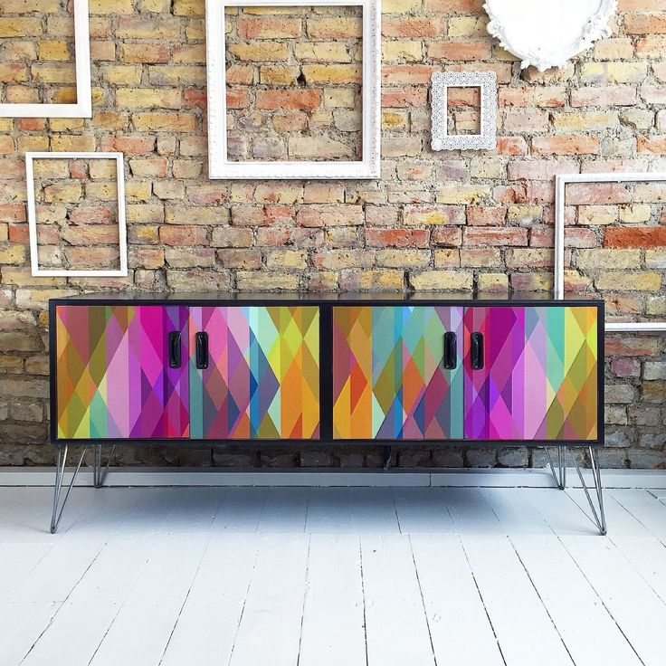 Upcycled Mid Century Vintage Retro Gplan Sideboard Cole & Son Hairpin Legs in Home, Furniture & DIY, Furniture, Sideboards, Buffets & Trolleys | eBay