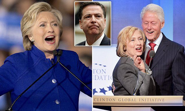 FBI Clinton Foundation Probe Finds 'Avalanche' of Corruption Evidence Against Her - But Agents Fear Justice Department Will Stop Her Going on Trial. •Clintons are accused of running a pay-for-play operation out of the State Department that favored donors to their charity. •Feds are 'actively and aggressively pursuing' a case, have an 'avalanche' of evidence. •Attorney General Loretta Lynch's Justice Department keeps telling the FBI to stand down.