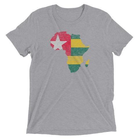 Vintage Print Togo Flag Togo Palms Short sleeve t-shirt