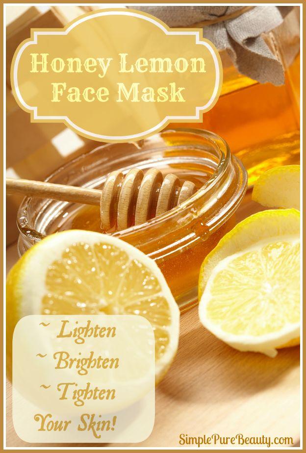 Honey Lemon Face Mask - Lighten, Brighten and Tone Your Skin - http://simplepurebeauty.com/399/lemon-honey-face-mask/