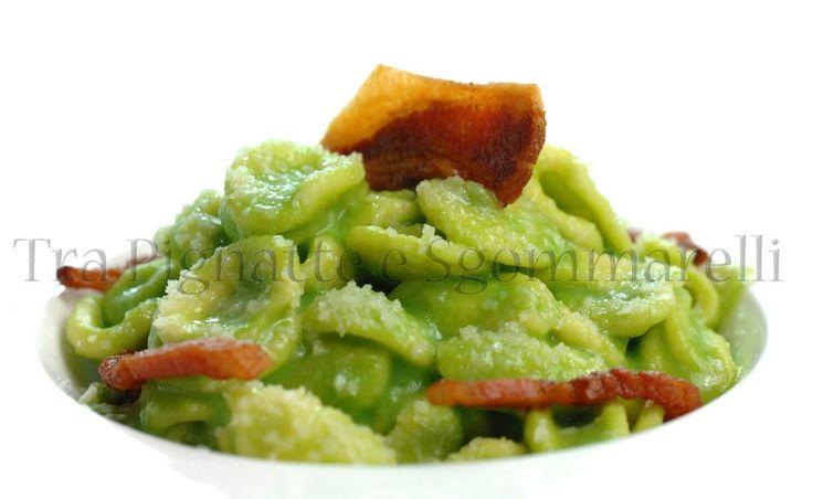 Orecchiette con crema di broccolo siciliano, pecorino romano e guanciale croccante | Tra Pignatte e Sgommarelli