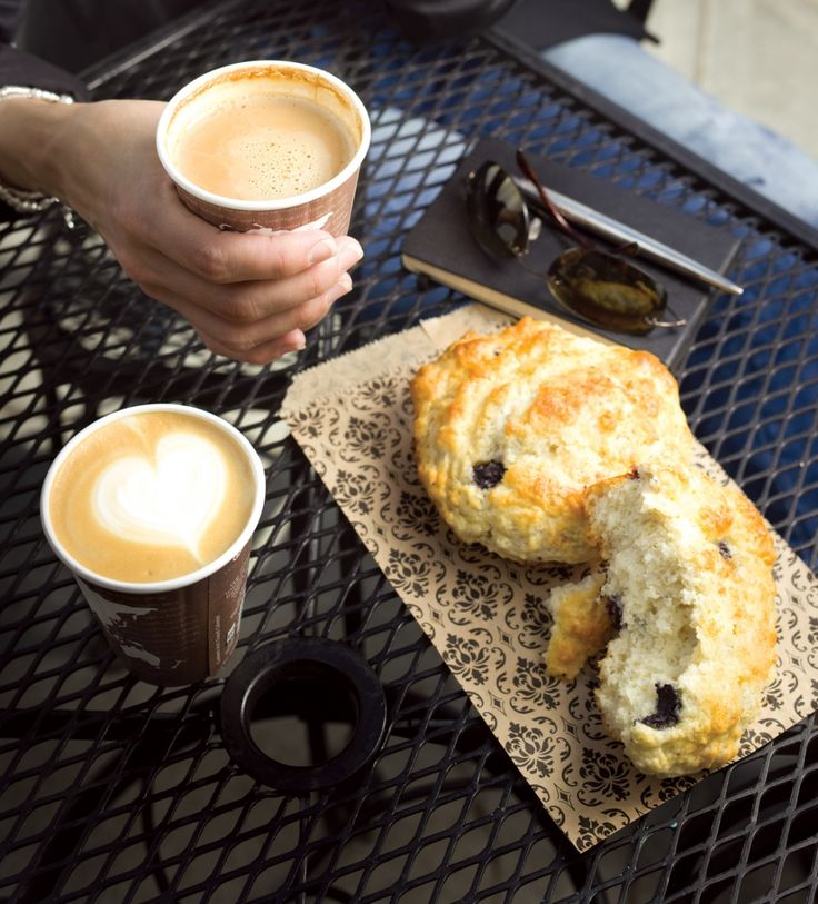 Blueberry scone at The Carrot