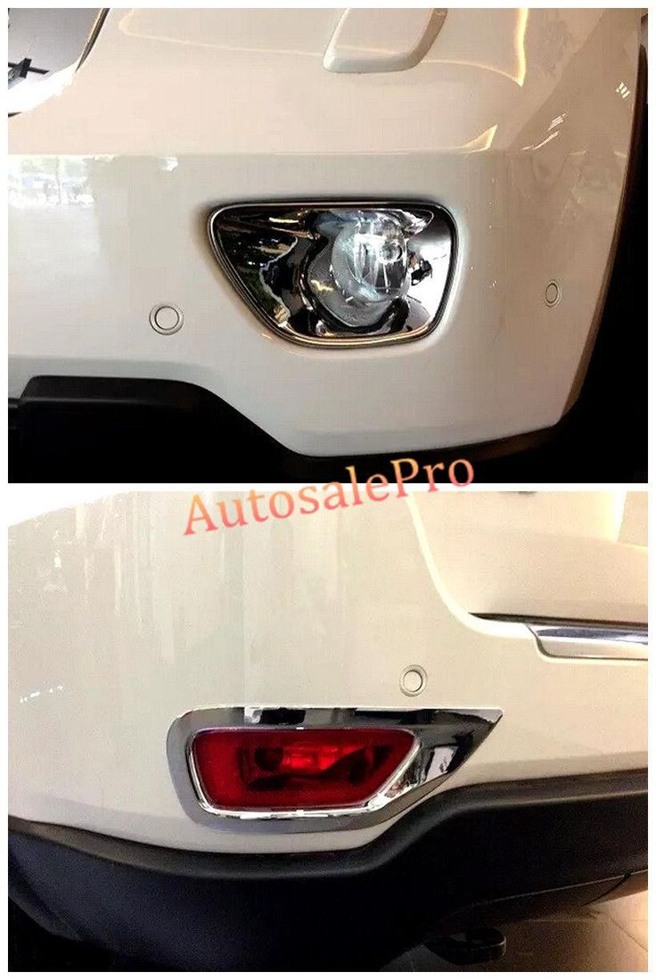 [Visit to Buy] Chrome Front + Rear Fog Light Cover Trim 4pcs for Jeep Grand Cherokee 2011 2012 2013 #Advertisement