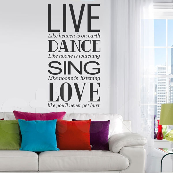 Wall Sticker LIVE-DANCE-SING-LOVE by Sticky!!!