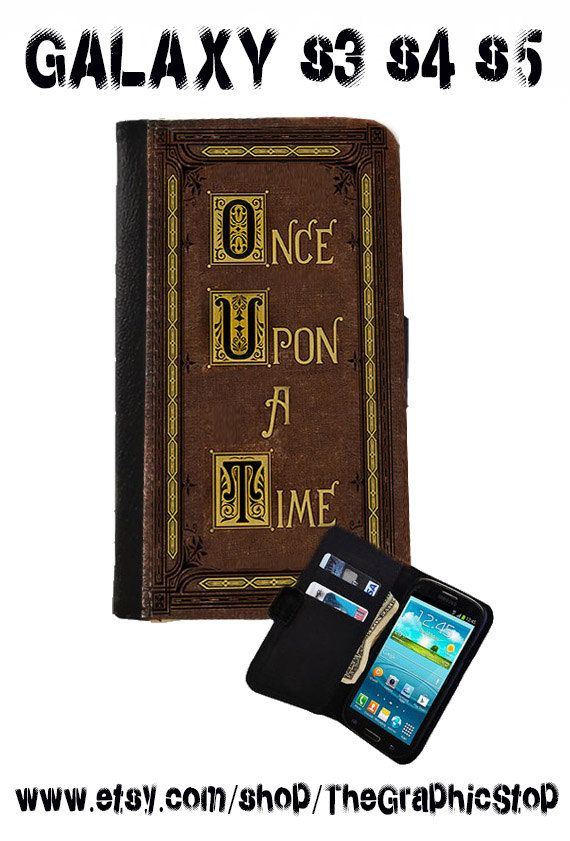 Once Upon A Time Fairytale Book Inspired Wallet Case.Leather  Samsung Galaxy s3 Galaxy s4 Galaxy s5 Canvas leather Gear for android cases