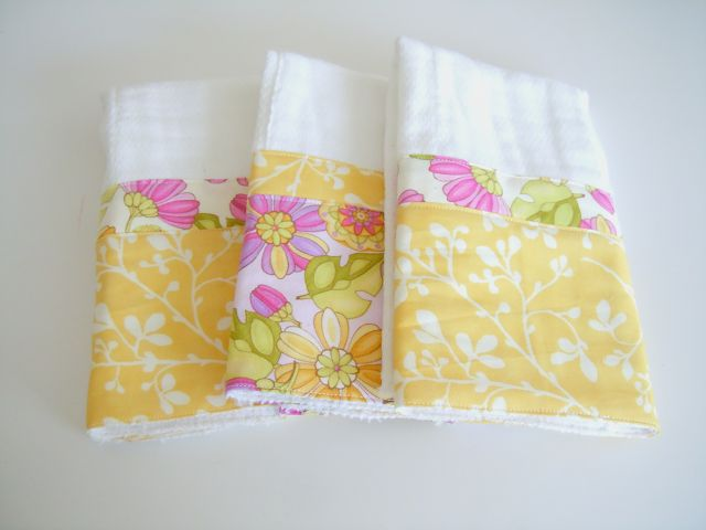 How to make cute burp cloths from fabric and cloth diapers. #NCreativeMama