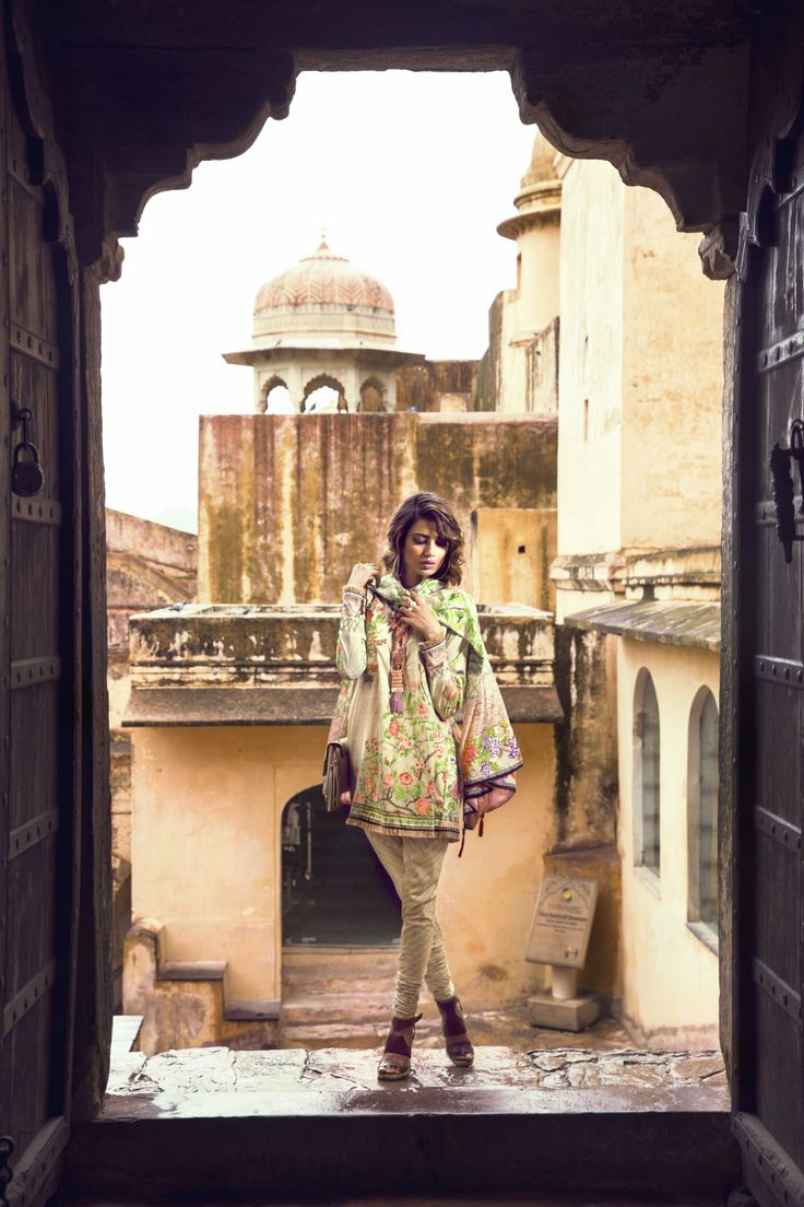 Sapphire Pakistan goes to Jaipur, India to shoot for their new Cambric Unstitched Collection featuring model Rabia Butt.