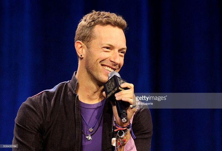 Musician Chris Martin of Coldplay speaks during the Pepsi Super Bowl 50 Halftime Press Conference at the Moscone Center West on February 4, 2016 in San Francisco, California.