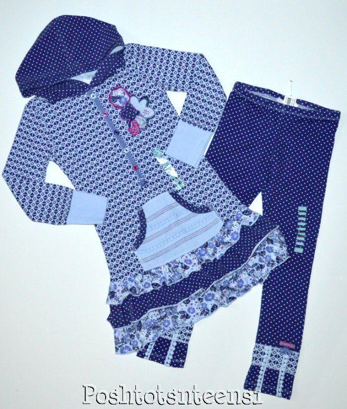 Naartjie Cloud Diamond Hooded Dress Chill Spot Leggings Set 7 6 NWT sl1-2 #Naartjie #1valueperline