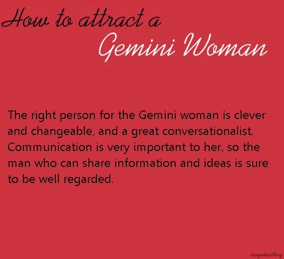 What attracts gemini woman