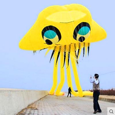 43.56$  Watch more here  - free shipping high quality large inflatable kite jellyfish kite buggy kite bird outdoor fun parachute kite string reel animated