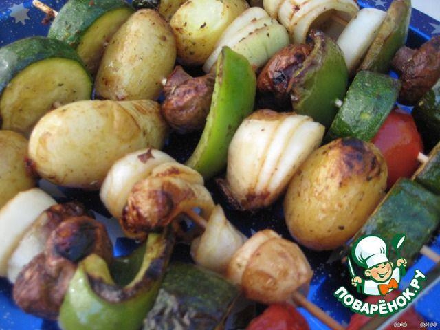 Вегетарианский шашлык или овощи для гриля ингредиенты