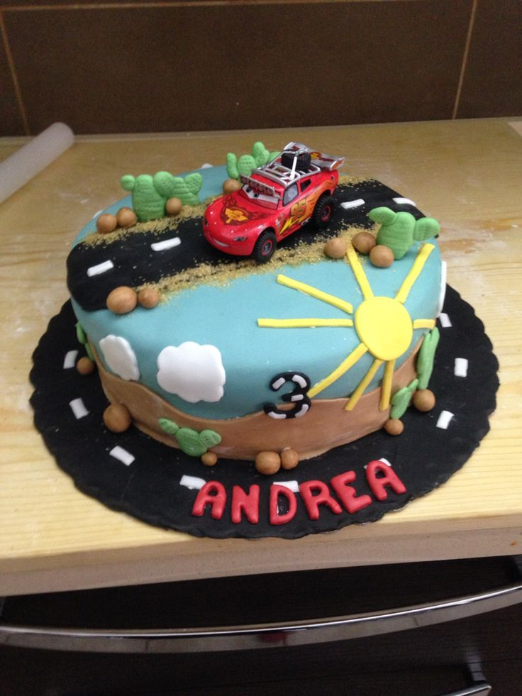 Torta cars on the road.
