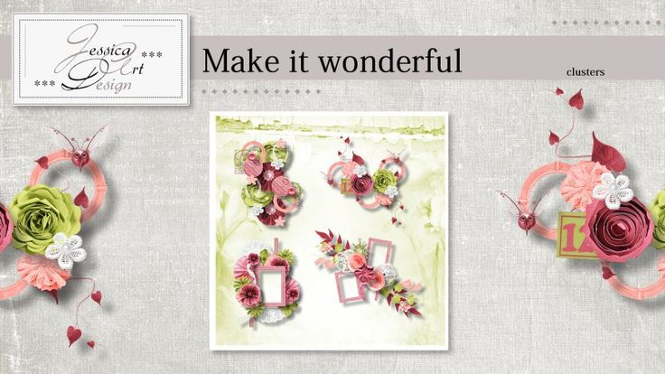 Make it wonderful clusters by Jessica art-design