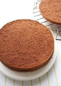 Moist Light Chocolate Sponge Cake