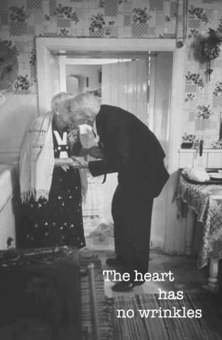 THE HEART HAS NO WRINKLES....True love only sees with the heart. Their life together was...too much fun!