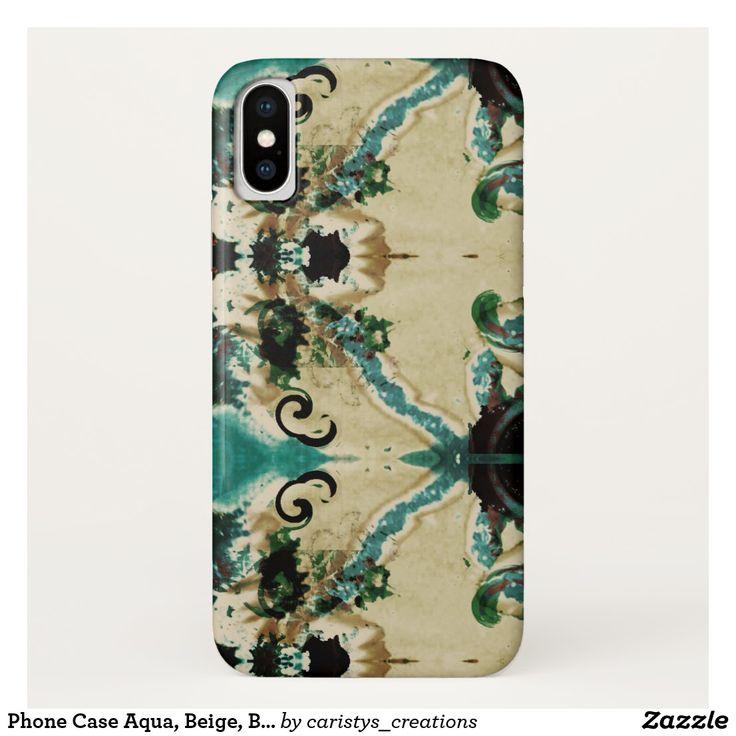 Phone Case Aqua, Beige, Black