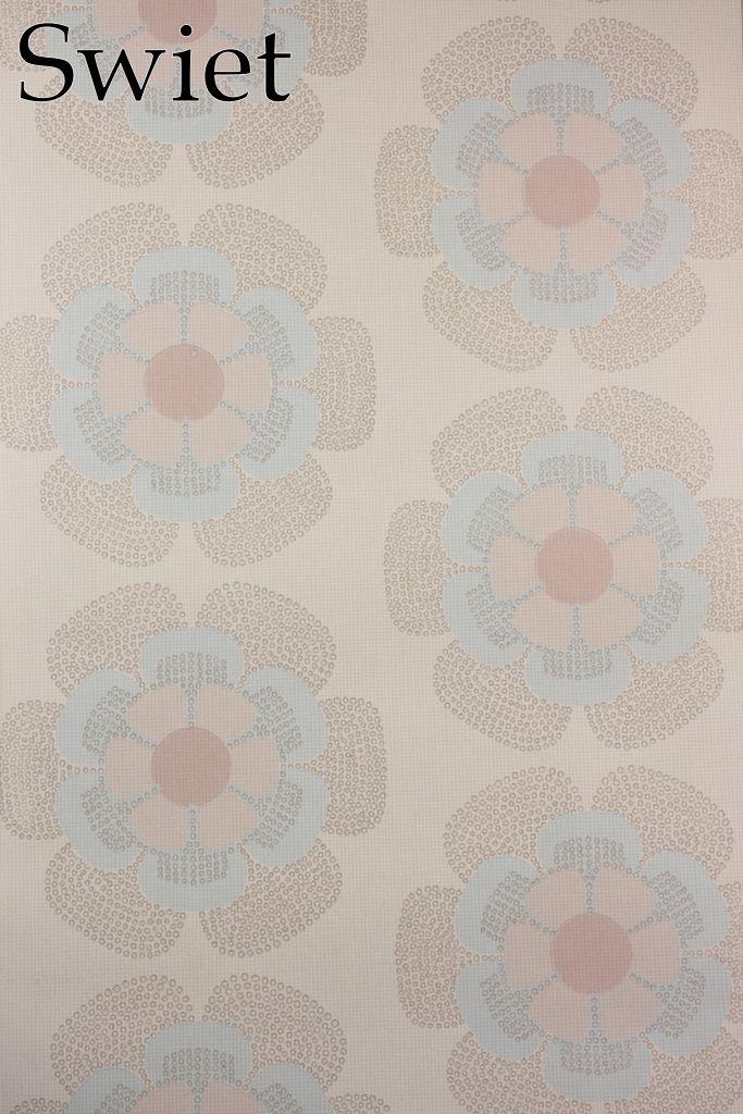 Baby stijl retro bloemen behang | Swiet