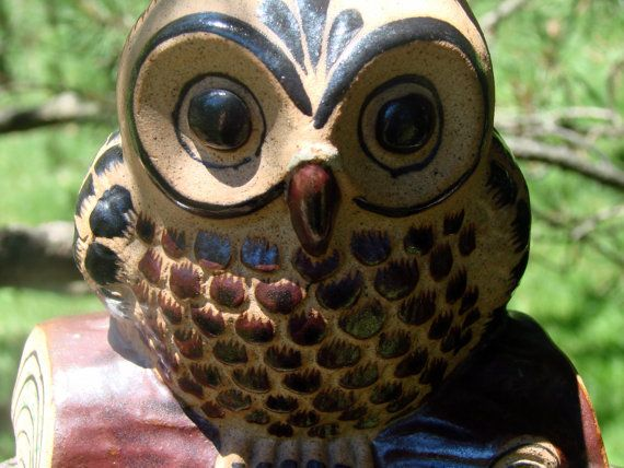 Mexican Pottery Owl Decor Animal Decor by AntiqueAlchemyShop, $18.00