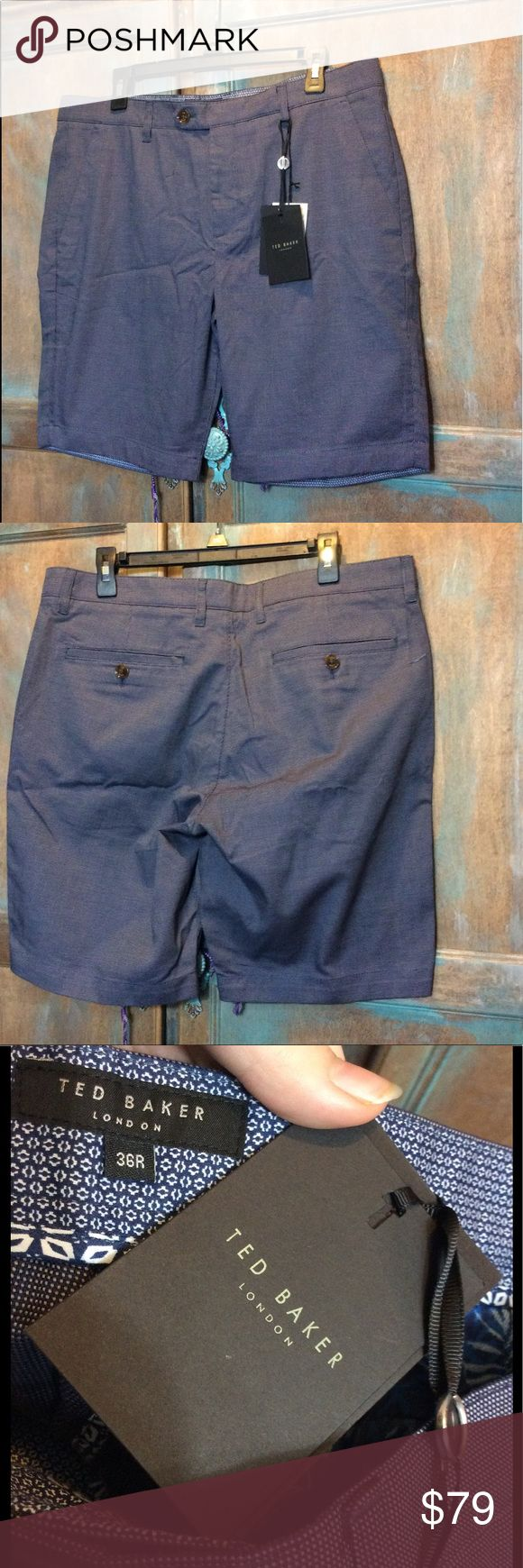 Ted Baker London shorts NWT size 36R Ted Baker London men's navy dot shorts. New with tags. Size 36R. Ted Baker London Shorts Flat Front