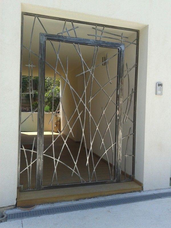 Création porte grille en fer forgé sur mesure. Modèle Eva                                                                                                                                                                                 Plus
