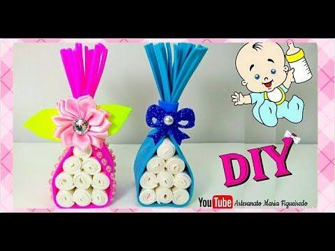 d0cc291f32 YouTube   Baby shower decor   Lembrança chá de fralda, Lembrancinhas ...
