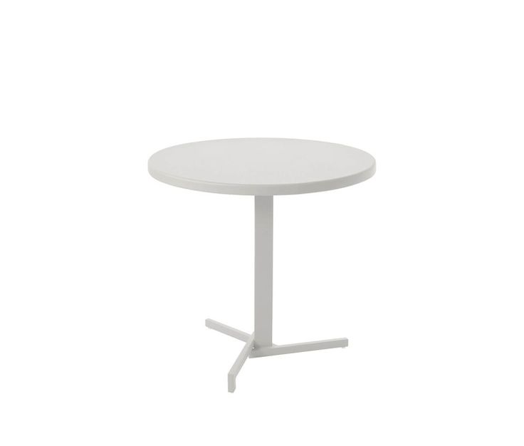 Folding square table Hpl sheet top  Ø 80